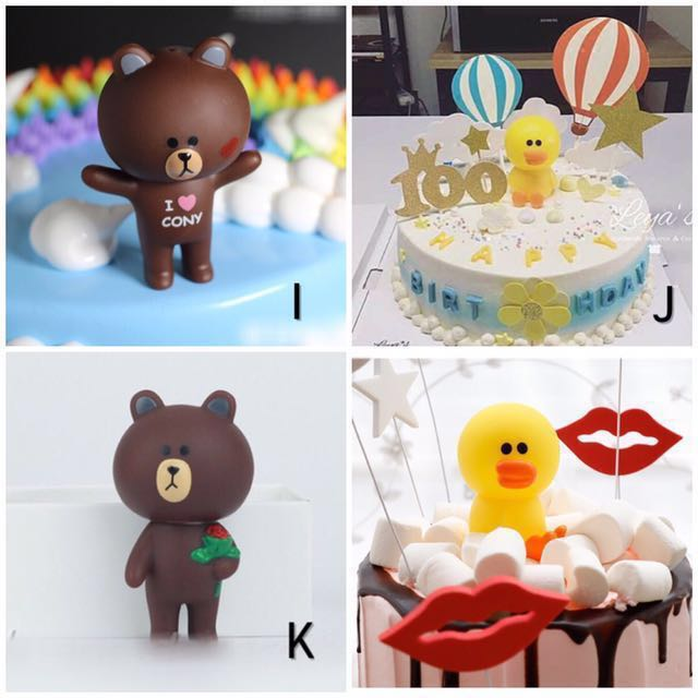 Line Friends Brown Cony Sally Cake Toppers Figurines Display. Toys & Games. Bricks & Figurines on Carousell