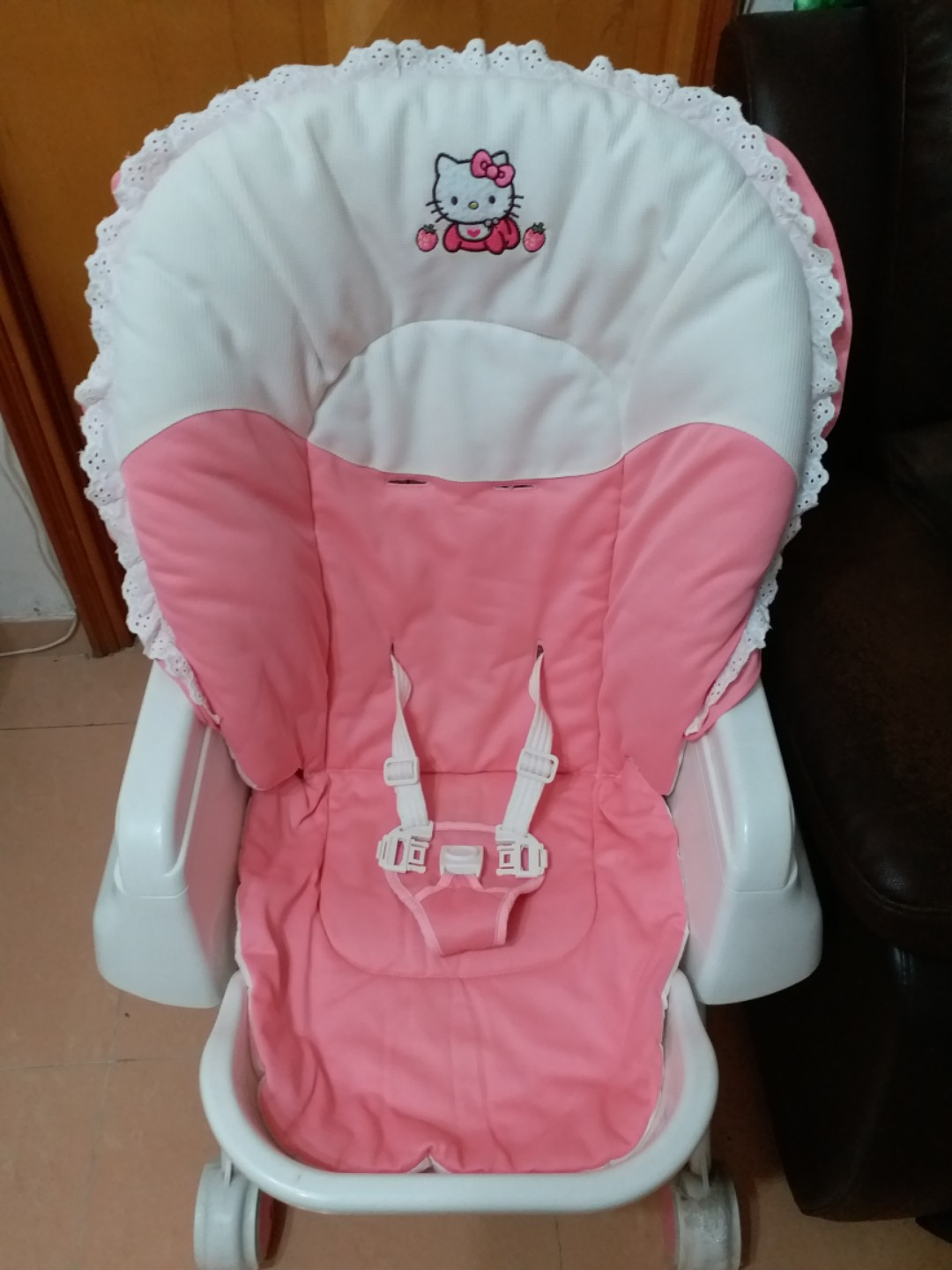 hello kitty high chair table chairs for sale www topsimages com babies kids prams strollers on carousell jpg 1080x1440