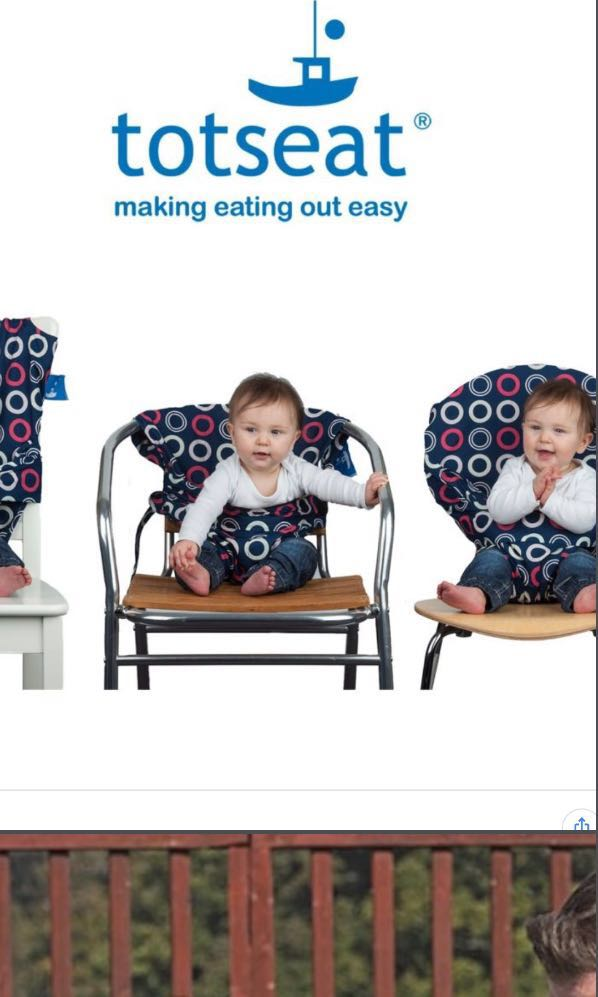cloth portable high chair living room chaise lounge chairs totseat washable babies kids nursing feeding on carousell