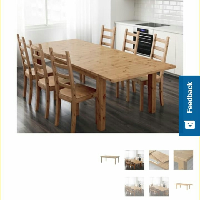 stornas ikea extensible dining table and 6 chairs 110 only if pick up bfr saturday