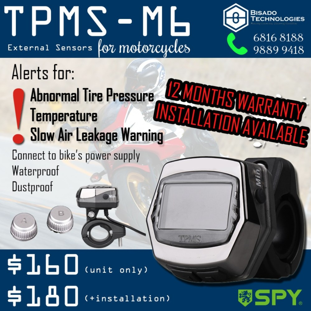 medium resolution of spy tpms m6 external sensors for motorcycles motorbikes motorbike accessories on carousell