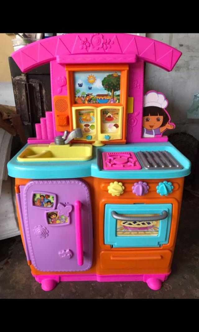 Dora Kitchen Toy : kitchen, Kitchen, Babies, Kids,, Infant, Playtime, Carousell