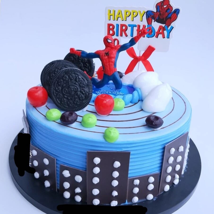 Spiderman Party Supplies Diy Cake Deco Cake Toppers Figurine