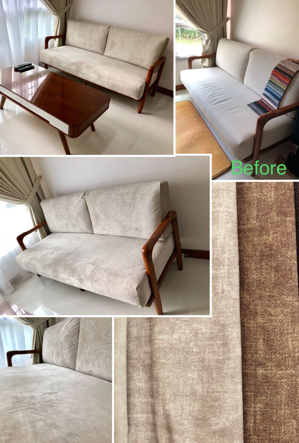 sofa seat cover singapore amazon sectionals custom made cushion covers 98167256 furniture sofas on carousell share this listing
