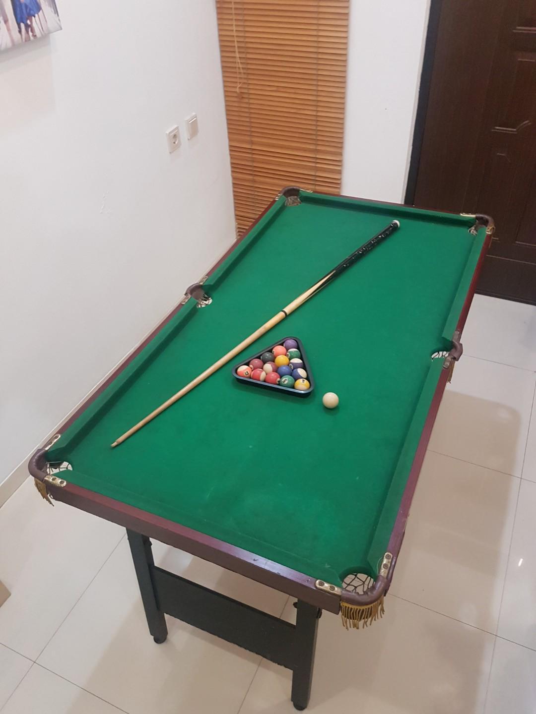 Ukuran Meja Billiard Mini : ukuran, billiard, Billiard, Ukuran, 140x75x78, Raga,, Perlengkapan, Olahraga, Lainnya, Carousell