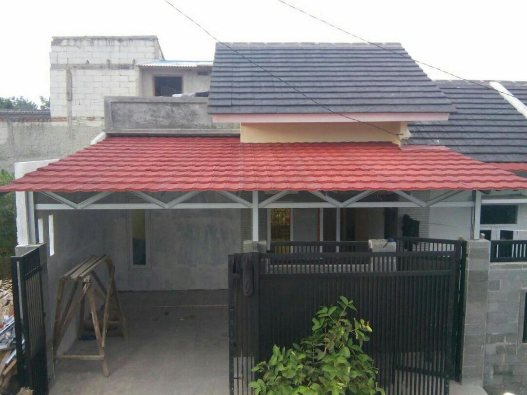 contoh kanopi baja ringan atap spandek genteng metal services home