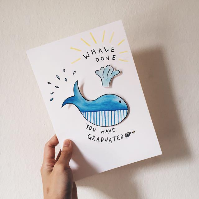 calligraphy graduation card design