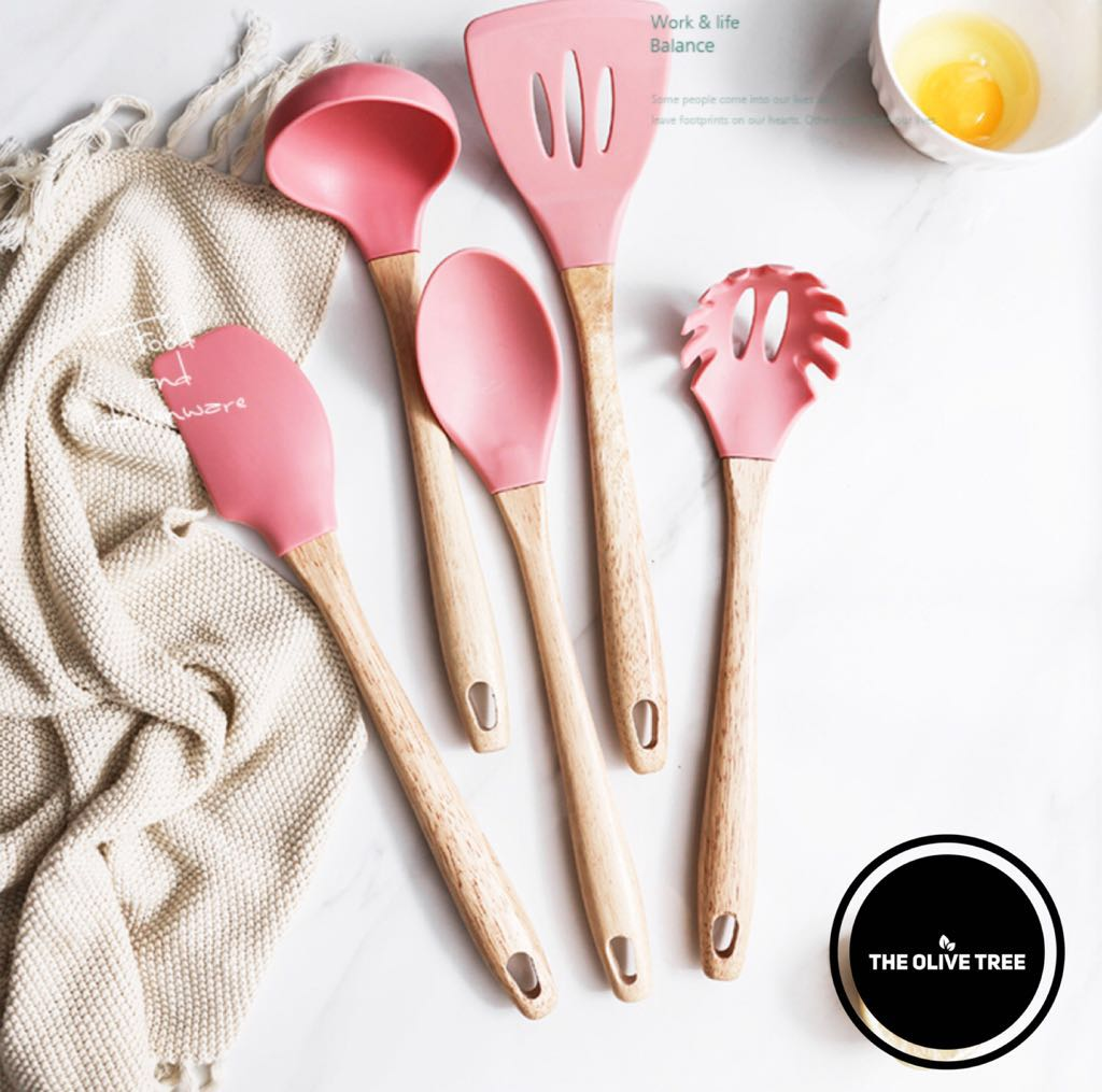 kitchen wooden utensils cabinents nordic spatula ladle spaghetti fork home appliances kitchenware on carousell