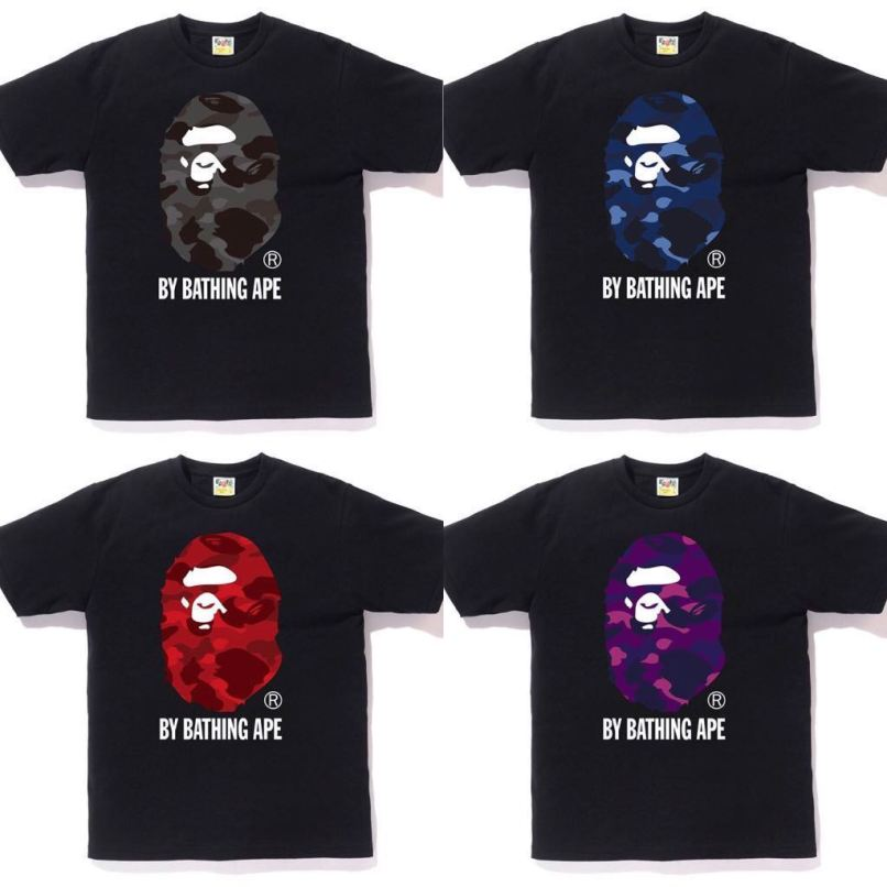 256fb824 Bape Color Camo Big Ape Head Tee Men S Fashion Clothes Tops On