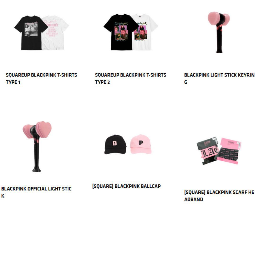 SINGAPORE BLACKPINK OFFICIAL MERCHANDISE Entertainment K