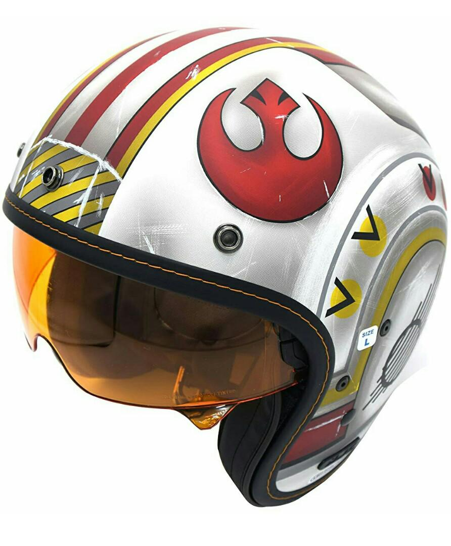 Fighter Pilot Style Motorcycle Helmet : fighter, pilot, style, motorcycle, helmet, X-Wing, Fighter, Pilot, Helmet, Unisex-Adult, Open-Face-Helmet-Style, (White/Red,, XX-Large),, Motorcycles,, Motorcycle, Apparel, Carousell