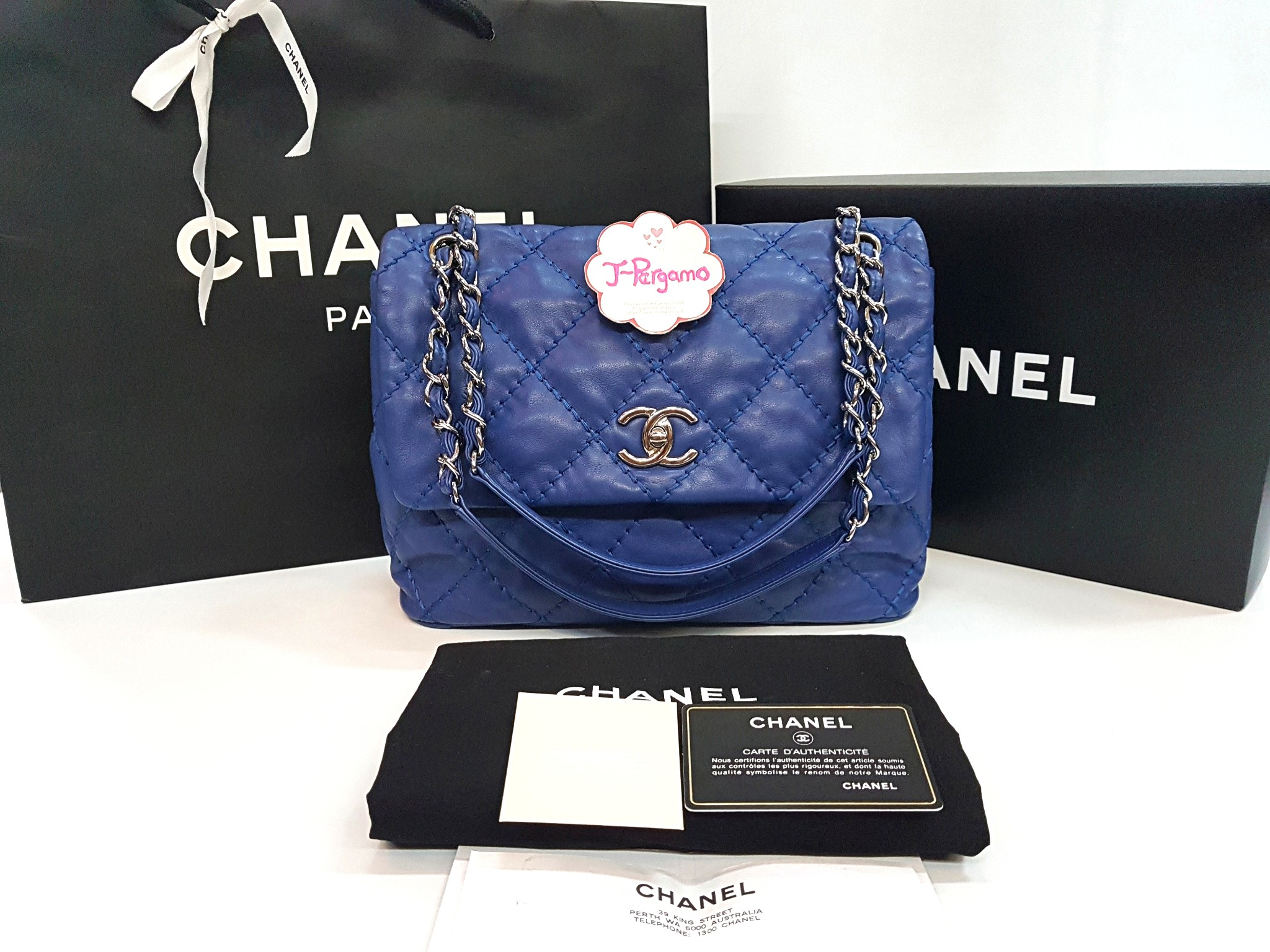 30b75a393960 Authentic Chanel Flap Bag Silver Hardware Only For Sale No Trade Fixed  Price Non Neg 定价