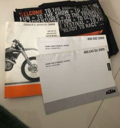 ktm 400 exc 09 11 manual motorbikes motorbike accessories on carousell [ 810 x 1080 Pixel ]