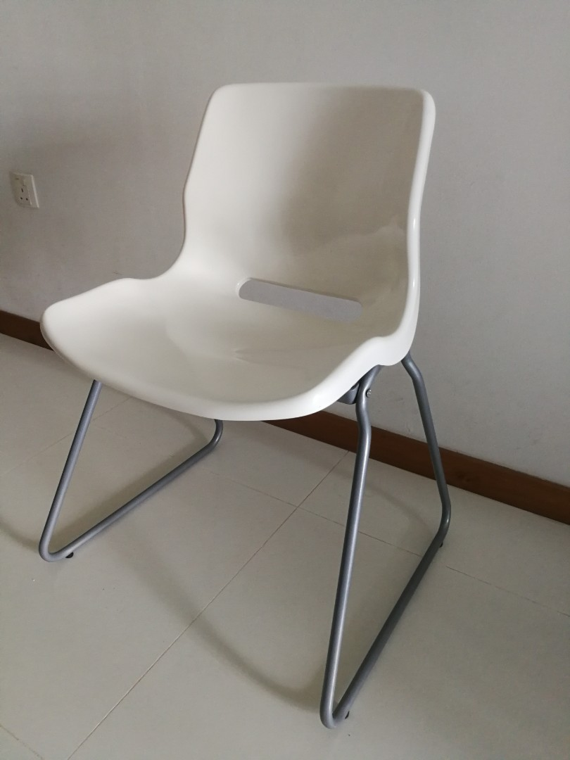 White Stackable Chairs Ikea White Stackable Chair X2