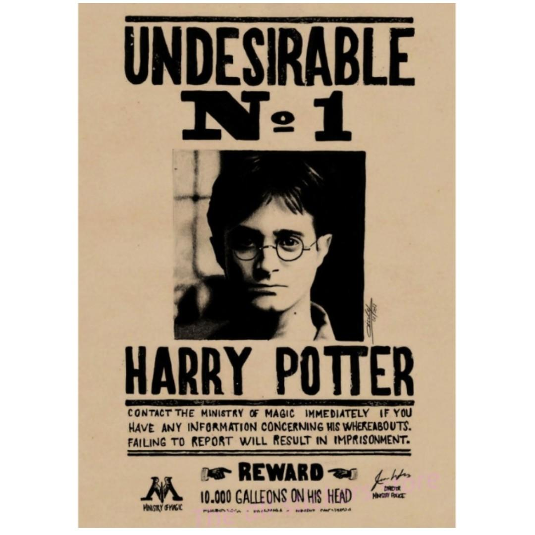 Harry Potter - Wanted Posters. Design & Craft. Handmade Craft on Carousell