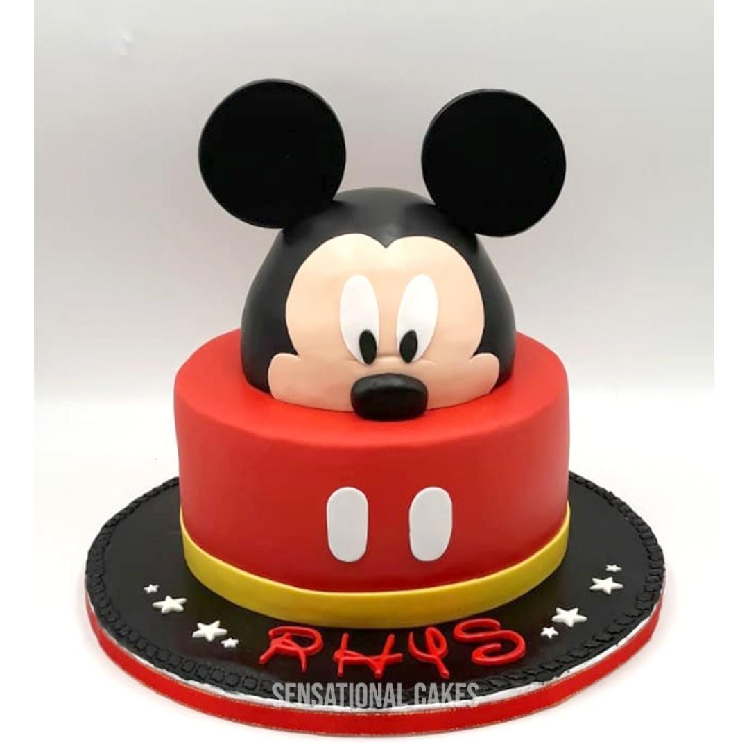 Mickey Mouse 3d Fondant Boy Children Theme Birthday Cake