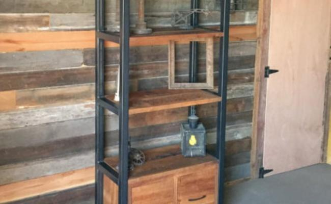 Rak Display Industrial Besi Dan Kayu Home Furniture On