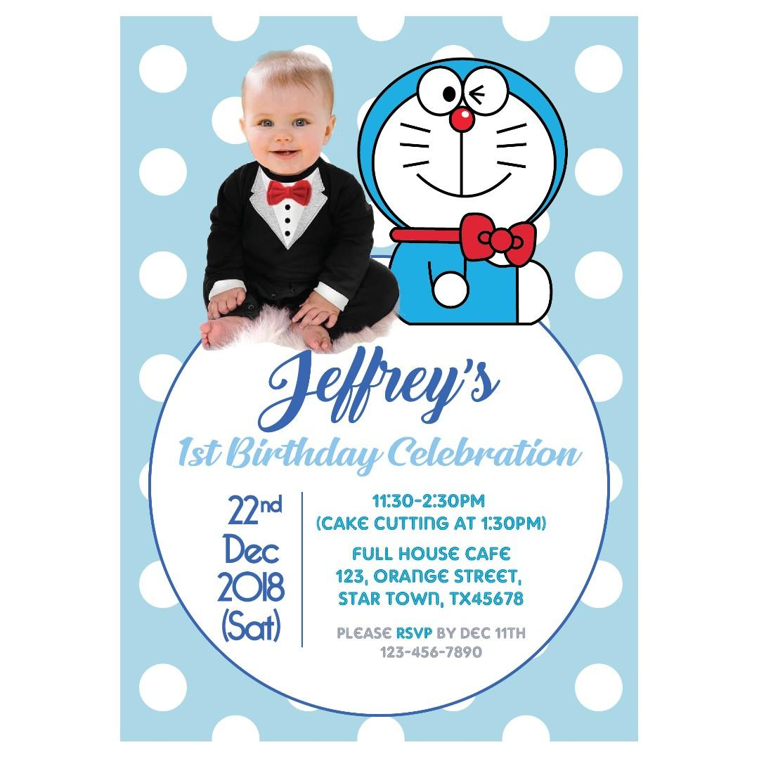 template blank 1st birthday invitation