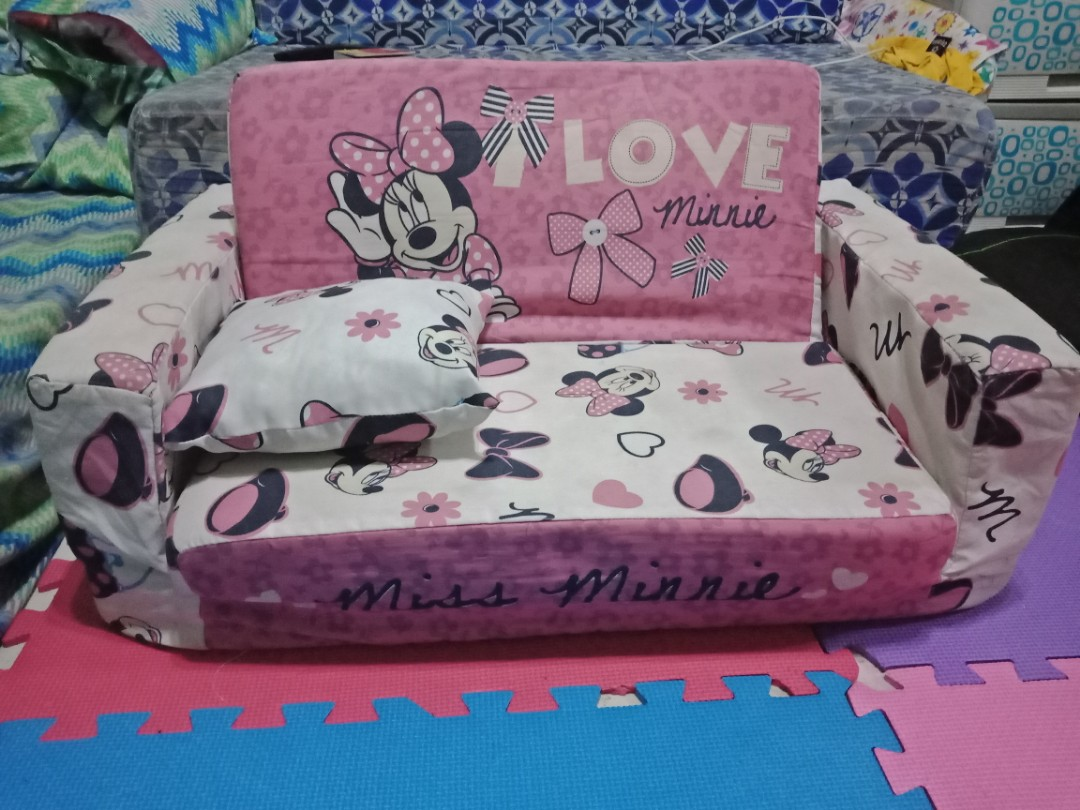 sofa bed for baby philippines white leather durability uratex minnie mouse babies kids others on carousell share this listing