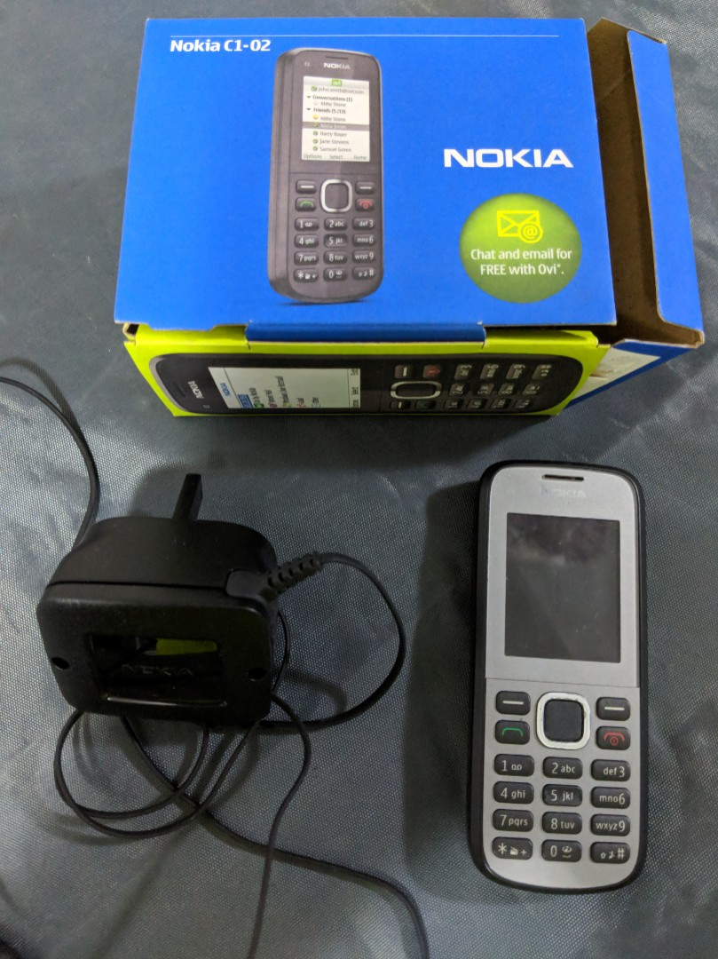 medium resolution of nokia c1 02 full handset complete with oem battery and charger mobile phones tablets others on carousell