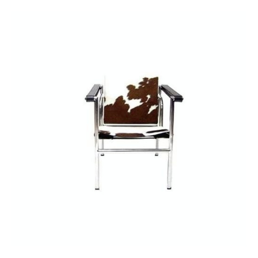 Cow Hide Chair Le Corbusier Lc1 Cow Hide Leather Sling Steel Chair