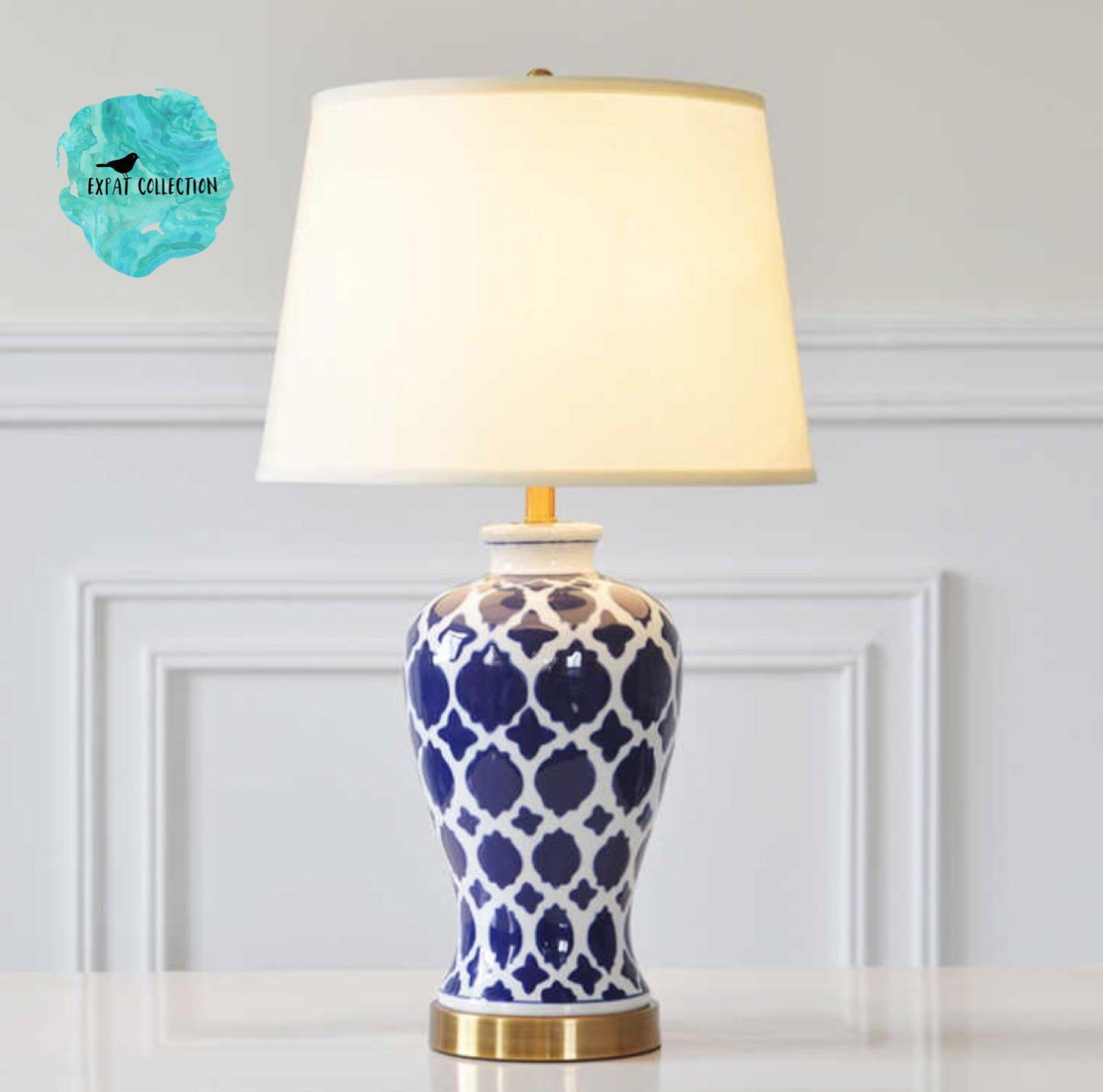 Oriental Moroccan Pattern Ceramic Table Lamp Furniture Home Decor On Carousell