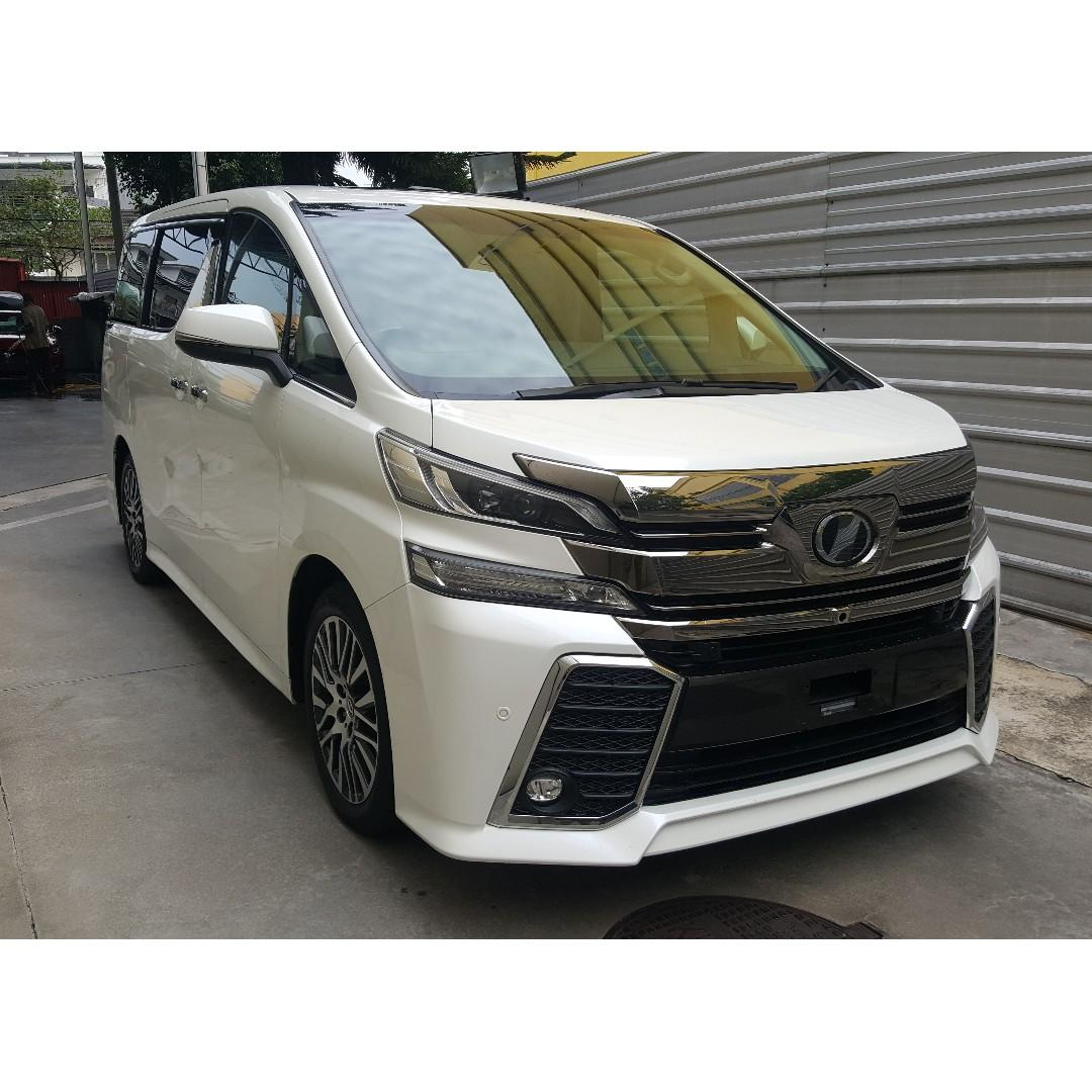 toyota all new vellfire 2.5 zg edition agya trd 2018 2 5 fully loaded home theater sunroof jbl surround camera full leather pilot seat roof monitor a offer unreg 2015 on carousell