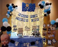 Boss Baby Theme Birthday Party Decoration & Dessert Table ...