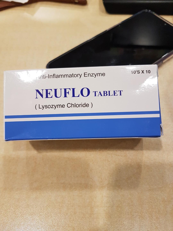 Neuflo tablet lysozyme chloride antiinflammatory enzyme