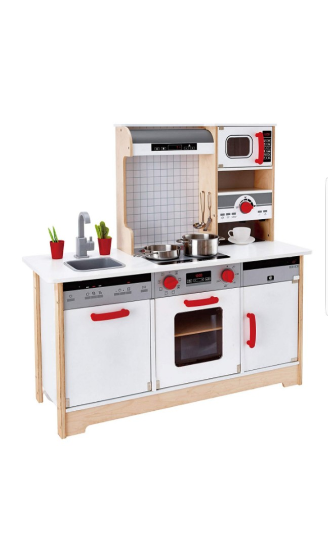 play kitchens for boys primitive kitchen cabinets hape kids all in 1 wooden with accessories ultimate photo