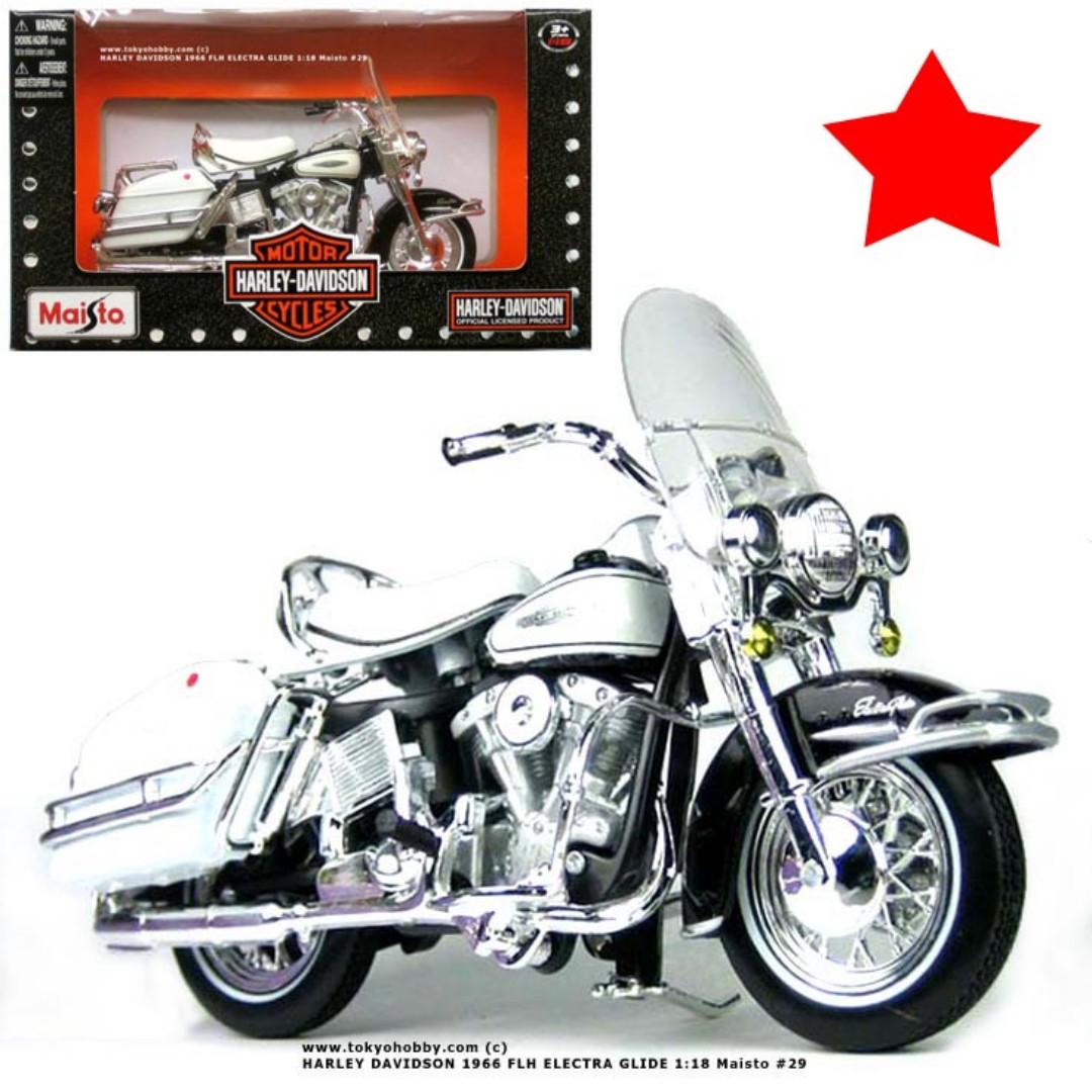 hight resolution of harley davidson 1966 flh electra glide 1 18 maisto toys games others on carousell