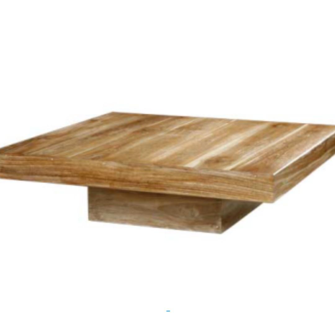 large square teak coffee table