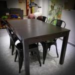 Dining Set Ikea Extendable Table 4 Courts Metal Chairs