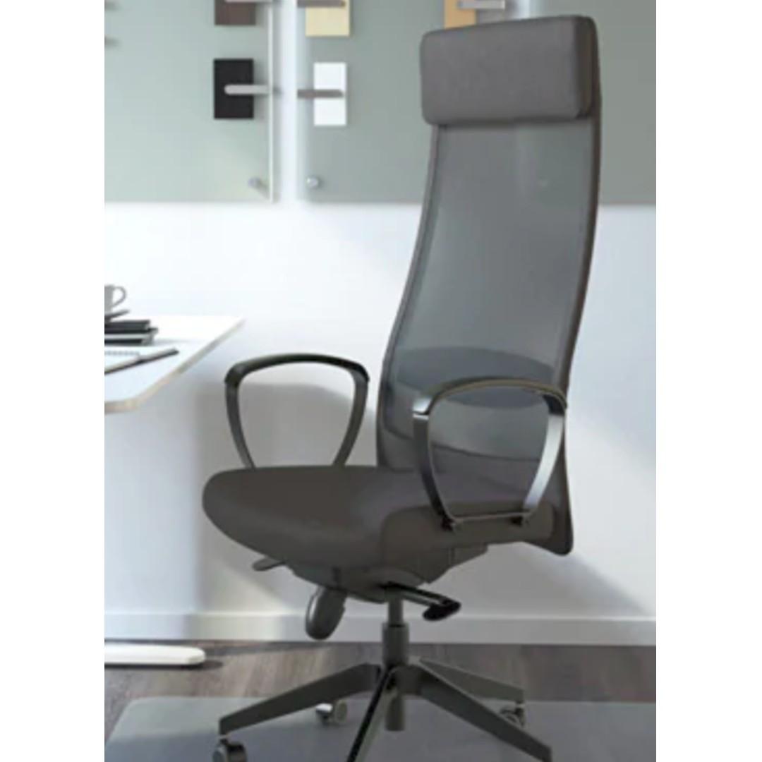 IKEA DESK OFFICE CHAIR MARKUS Swivel chair Vissle dark
