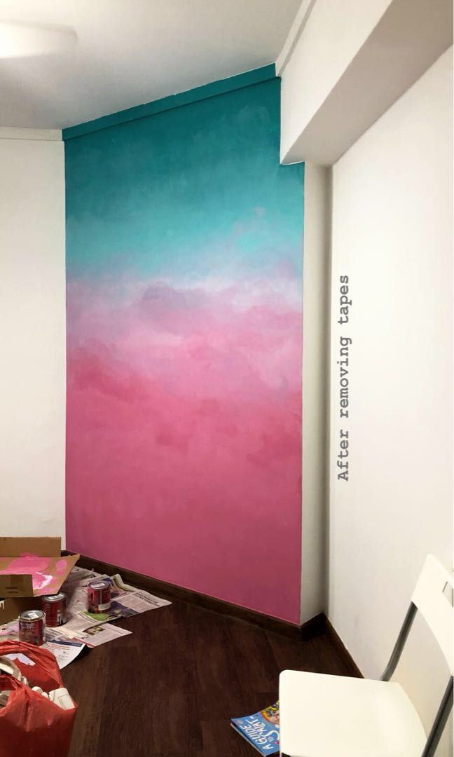 Ombre Wall Painting Design  Craft Art  Prints on Carousell