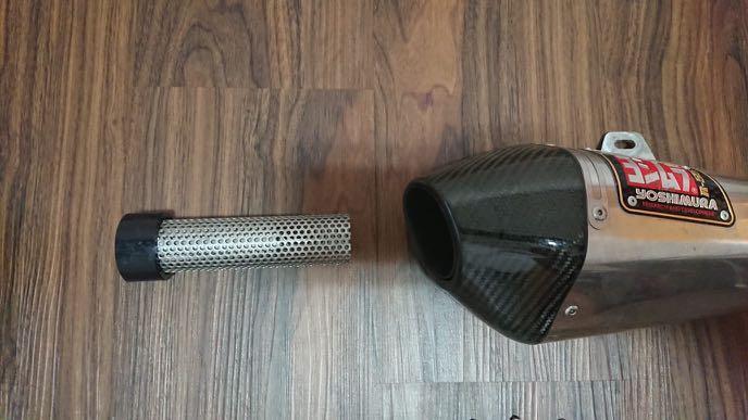 yoshimura r55 carbon fibre tip full system exhaust