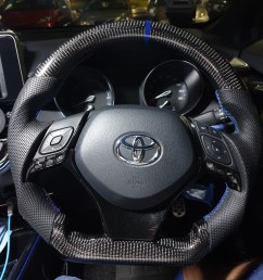 toyota c hr steering wheel trim cover black chr car accessories accessories on carousell [ 1080 x 1440 Pixel ]
