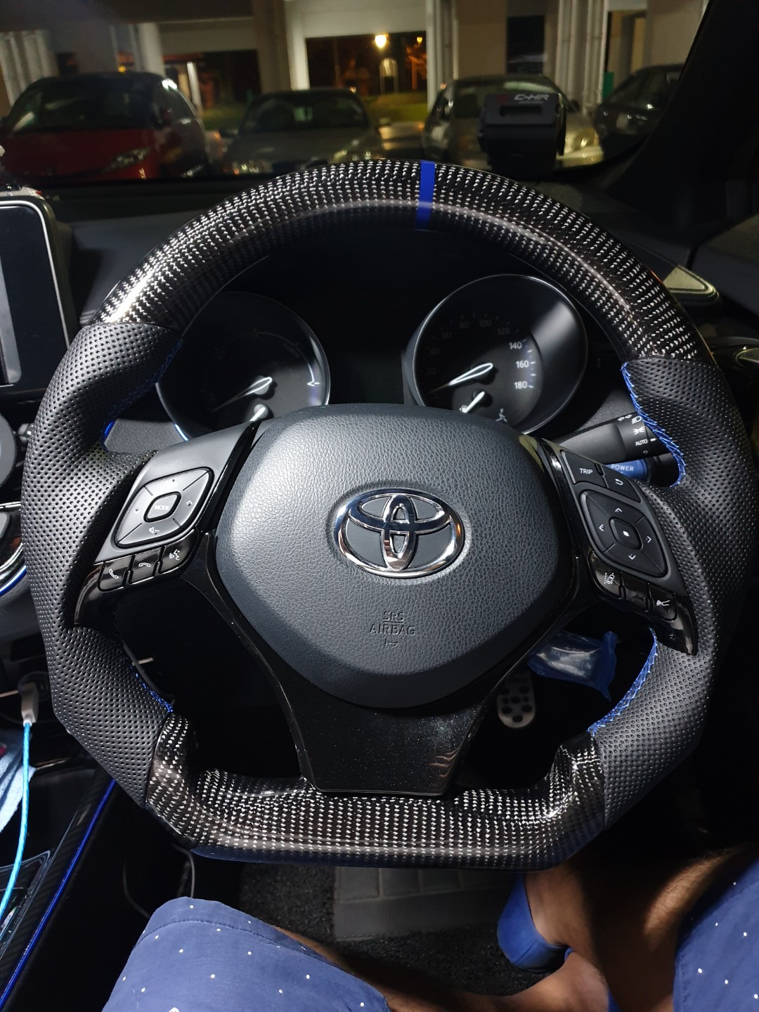 hight resolution of toyota c hr steering wheel trim cover black chr car accessories accessories on carousell