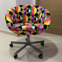 Skruvsta Swivel Chair Steamer Covers Australia Multicolor Furniture Tables Chairs On Carousell