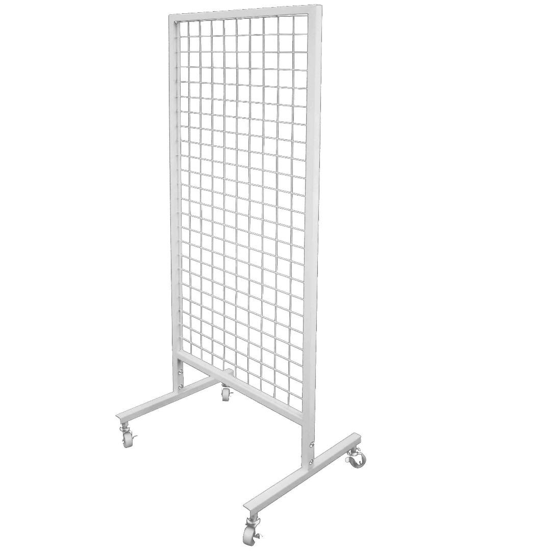 BN White Wire Mesh Grid Stand with wheels, Everything Else