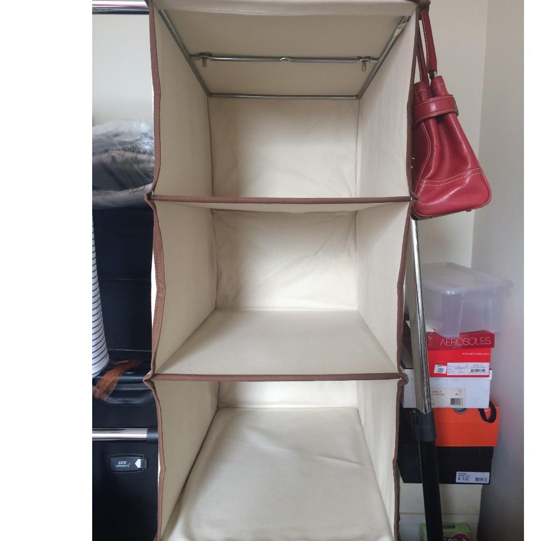 3 Layer Hanging Closet Organizer On Carousell