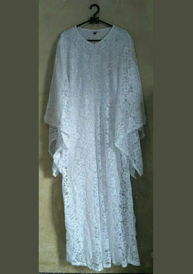 Gamis Putih Mewah : gamis, putih, mewah, Gamis, Brokat, Putih, Mewah, (FREE, ONGKIR, JABODETABEK),, Fesyen, Wanita,, Pakaian, Carousell