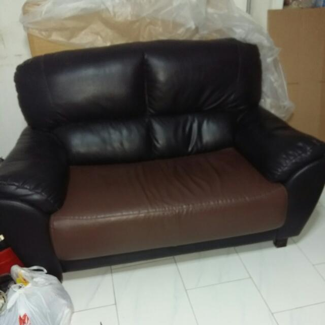 length of 2 seater sofa brentwood leather sectional real 1 4m x width 0 84m height share this listing