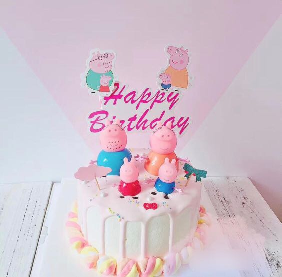 12pc Peppa Pig Cupcake Toppers Birthday Party