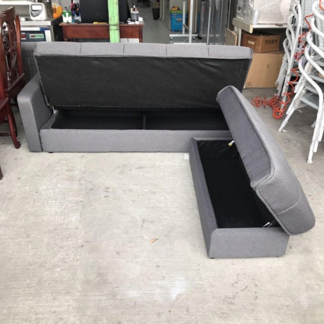 宜得利機能沙發床/L型布沙發/收納沙發/L型沙發床/沙發床/日式沙發/轉角沙發/沙發椅/二手沙發 ...
