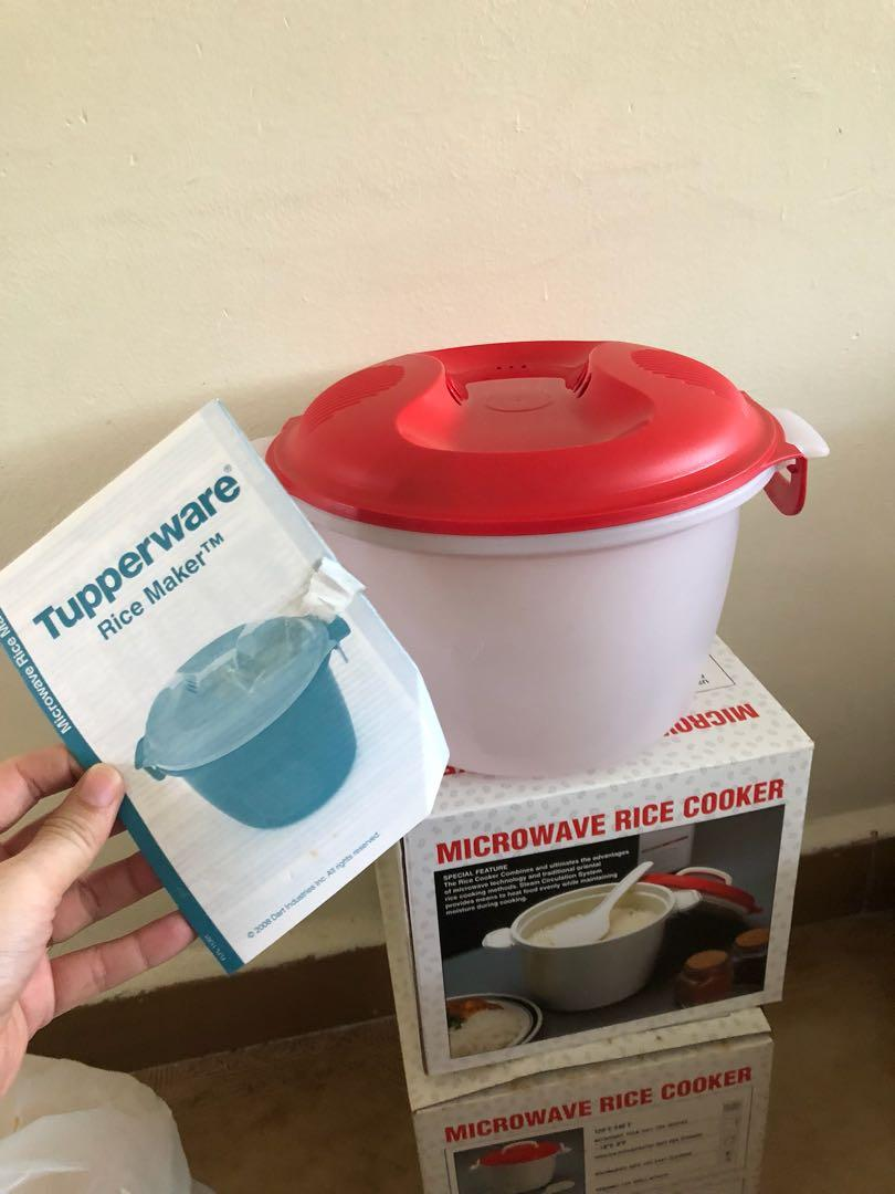 tupperware microwavable rice cooker