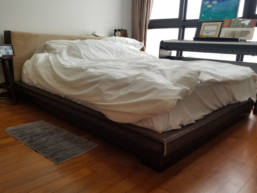 Free Teak Platform Bed Frame Queen Furniture Beds Mattresses On Carousell