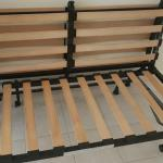 Ikea Black Metal Folding Bed Sofa Frame Double Queen Size Furniture Beds Mattresses On Carousell