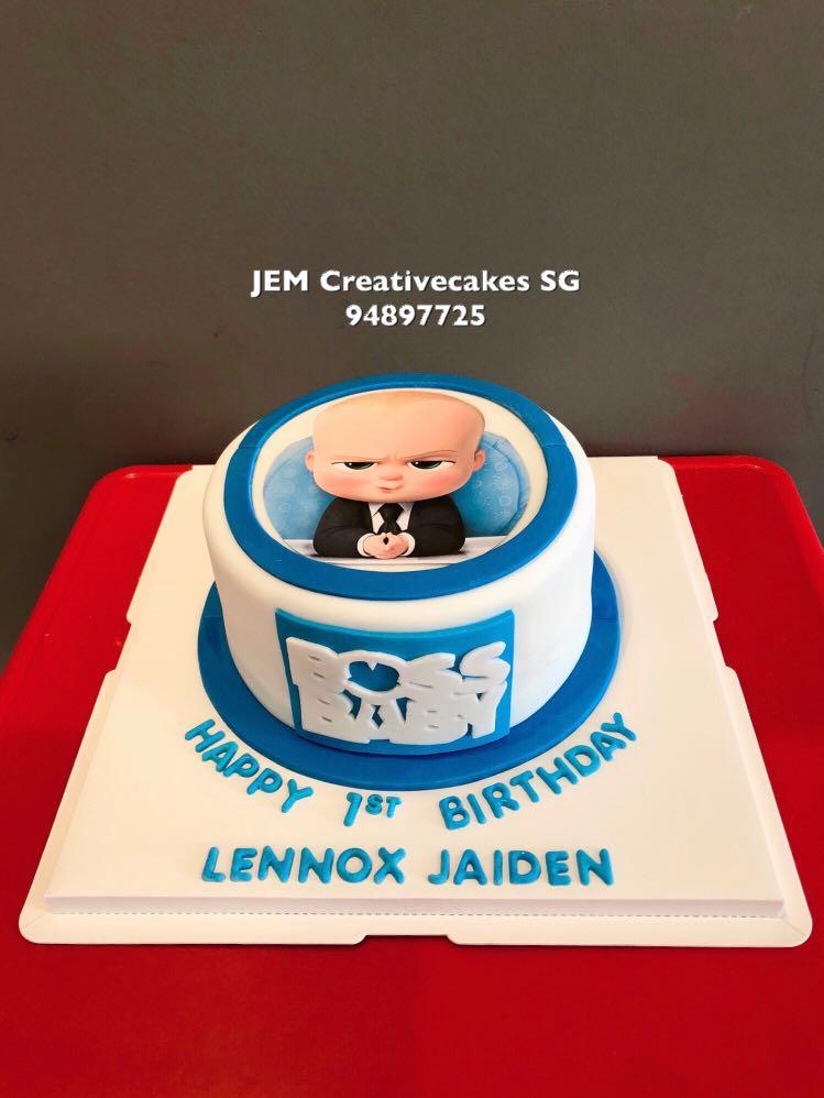 Boss Baby Birthday Cake Food Drinks Baked Goods On Carousell