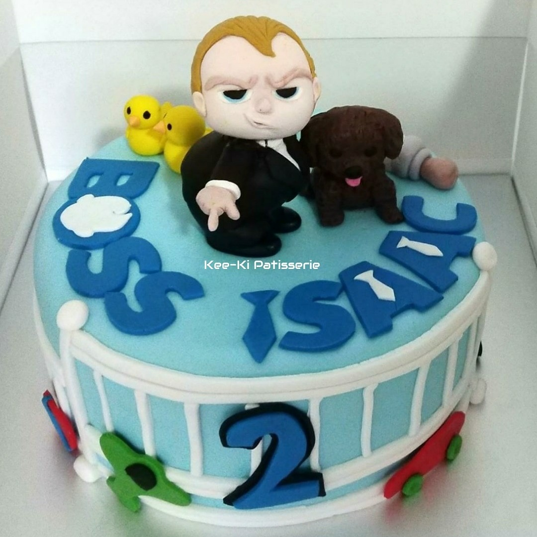 Customised Cake With Fondant Boss Baby Food Drinks Baked Goods